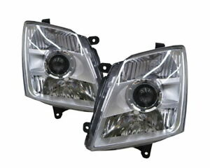 D-Max RA/RC MK1 2007-2011 Pickup 2D/4D Projector Headlight Chrome for ISUZU LHD