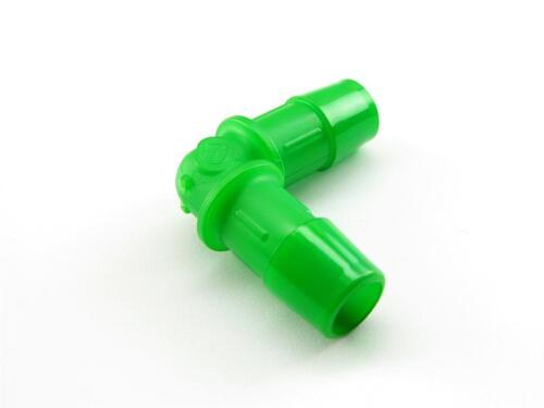"""Primochill Barbed Elbow Fitting UV Green 3//8/"""" ID Swiftech Danger Den XSPC"""