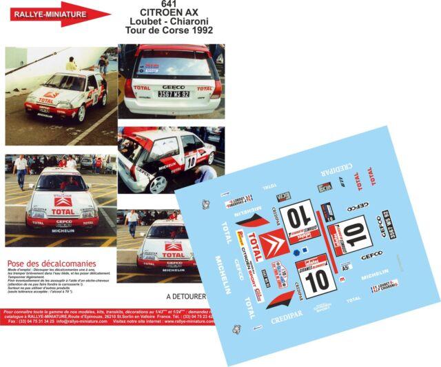 DECALS 1//18 REF 1603.2 CITROEN C3 WRC KRIS MEEKE TOUR DE CORSE 2018 RALLYE RALLY