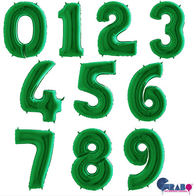 """Grabo - CHOOSE YOUR OWN NUMBERS Shiny White 40/"""" Foil Number Balloons"""