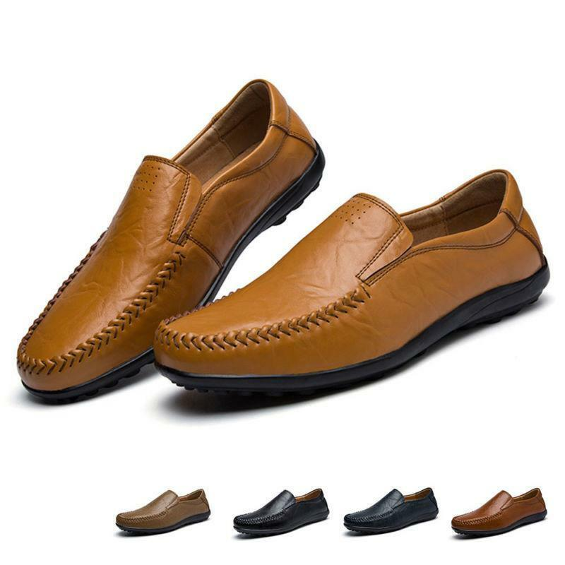 Men Flats Vogue Driving Summer Breathable Loafers Business Formal Leisure shoes