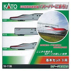 Kato 10-1136 Series E6 Ensemble de base Akita Shinkansen Super-komachi à 3 voitures-N