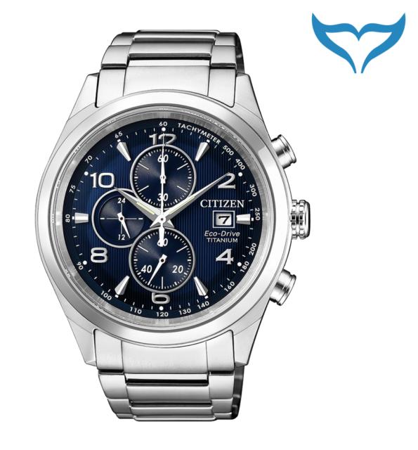 Citizen Super Titanium Chronograph Armbanduhr CA0650-82L Saphir Eco-Drive Herren