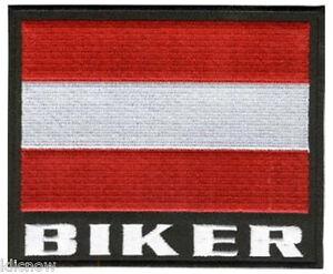 Austria-Biker-Embroidered-Patch-5-034-x-31-4-034-12-x-8-5CM