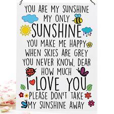 You Are My Sunshine Cute High Quality Metal Sign Tin Retro Plaque 20X15cm
