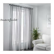 Ikea Curtains 1 pair Gulsporre Grey Pinstripe Lightweight Poly Cotton 2 Panels