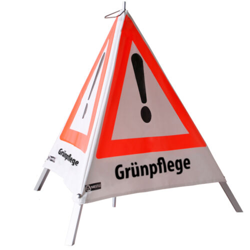 Warnpyramide Warnschild 70cm Grünpflege für Forst Waldarbeit Schild Absperrung