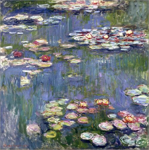 Claude Monet Premium-Poster Seerosen