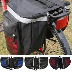 Waterproof Bike Bicycle Cycle Zipper Bag Double Side Rear Tail Seat Rack Pannier