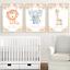 Safari-jungle-animaux-Nursery-Imprime-Set-de-3-Baby-Girl-Room-photos-Wall-Art miniature 6