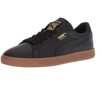 PUMA Basket Classic Deluxe Leather Sneaker Puma BlackMetallic Gold 366612 01 | eBay