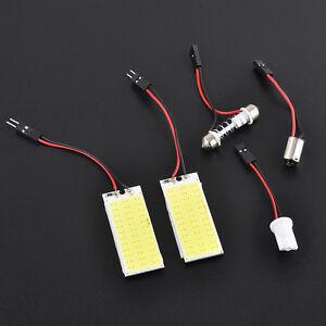 2PCS-HID-36-COB-LED-Car-Interior-Panel-Lamp-Dome-Map-Bulb-Light-Xenon-White-12V