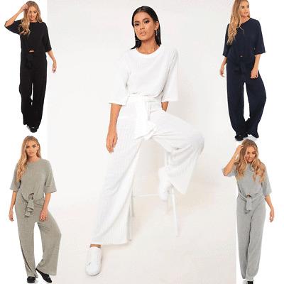 New Girls ladies /& womens Knot Front Loungewear Set