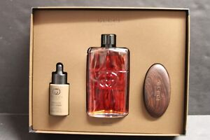 Gucci Guilty Absolute Pour Homme Gift Set 3.0 EDP Spray 1.0 Beard ... fb81c63aaaf0e