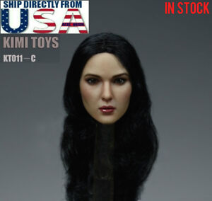 "1//6 Female Head Sculpt Long Hair B For 12/"" Hot Toys Phicen Figure USA IN STOCK"