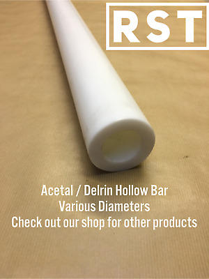 40mm Natural Co-polymer  Poly Acetal Rod 250 mm long Engineering-machining-etc