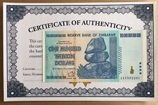 Zimbabwe 10 Trillion Dollars x 10 Pcs Unc 2008 AA = 100 Trillion