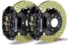 Brembo Rear Gt Brake 4p Caliper Black 345x28 Drill 996 Carrera 2 4 S Turbo 997 Fits Porsche