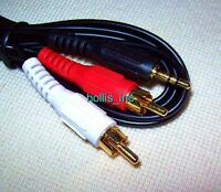 6 Feet Gold Ipod/mp3 3.5 Mm Jack Output To Rca Stereo Input Plug Audio Cable