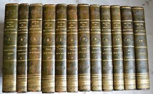 1825 Ouvres complètes de Jacques Henri Bernardin de Saint Pierre 12 Vol complet