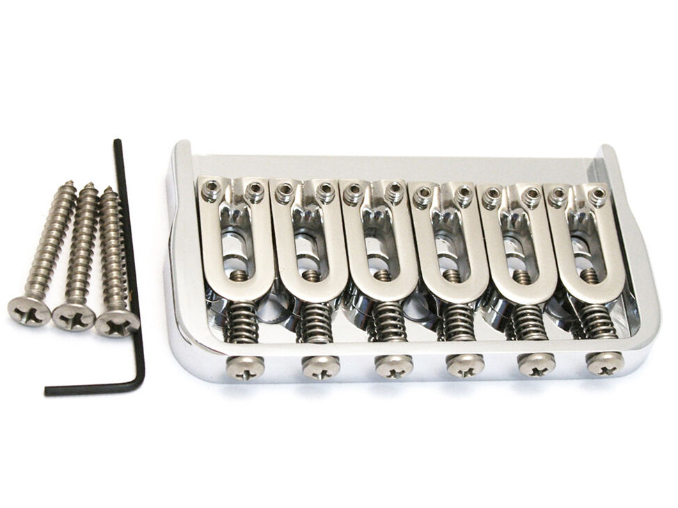 NEW Hipshot Fixed .125 Hardtail Electric Guitar BRIDGE Made in USA Chrome 41060C