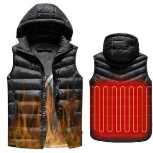 Electric USB Heated Warm Vest Mens Womens Heating Coat Jacket Clothing Skiing