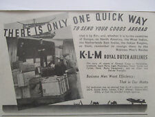 7/1946 PUB KLM ROYAL DUTCH AIRLINES CARGO FREIGHTER FRET AERIEN ORIGINAL AD