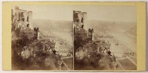 Germania-Oberwesel-Foto-Plaut-Parigi-Stereo-Vintage-Albumina-c1865