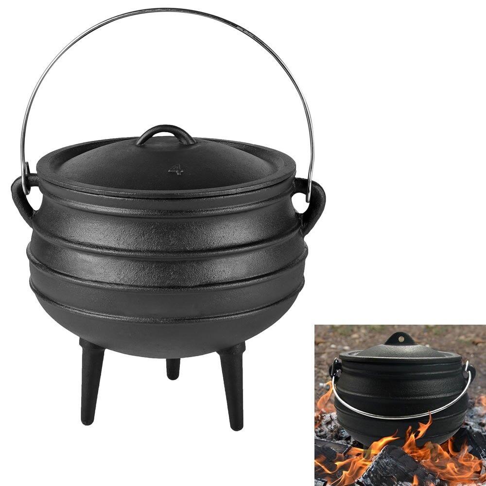 14L Potjie Dutch Oven Feuertopf Gulaschkanone Grill Pfanne Kochtopf Guss Potjie