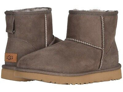 UGG Women Ankle Boots 1016222 CLASSIC MINI II, Chocolate