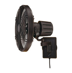 Wall Mounted Ceiling Fan: Image is loading ELLINGTON-FARADAY-AGED-BRONZE-OUTDOOR-DAMP-WALL-MOUNT-,Lighting