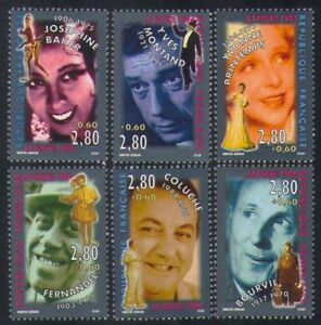 France-1994-Red-Cross-Fund-People-Entertainers-Film-Music-Actors-6v-set-n35289