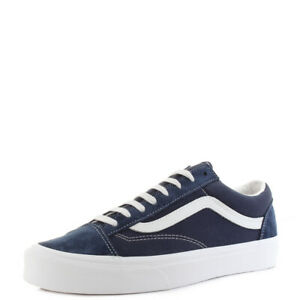 Mens-Vans-Style-36-Dress-Blue-Navy-Suede-Canvas-Classic-Trainers-Shu-Size