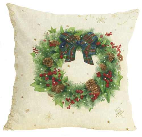 Kissenhülle Kissenbezug Motivkissen Weihnachten Weihnachtskranz