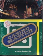 "Sealed Vintage Software Casino Master Centron Software Inc. 3.5"" Disk"