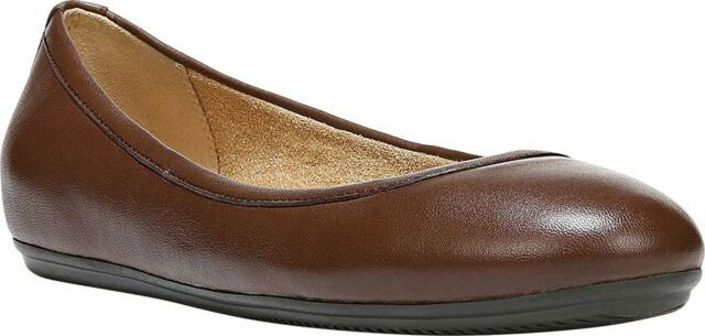 Naturalizer Womens Brittany Leather Closed Toe Slide Flats, Brown, Size 8.0 U7RH