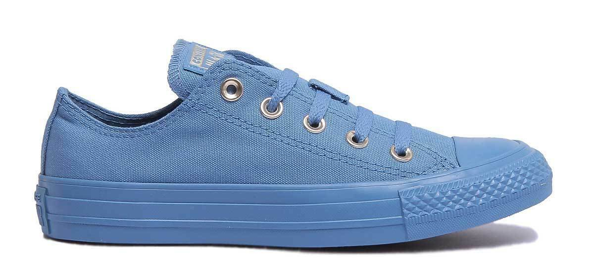 Converse Chuck Taylor All Star Mono Glam Damens Canvas Blau - Trainer Größe UK 3 - Blau 8 8f6295
