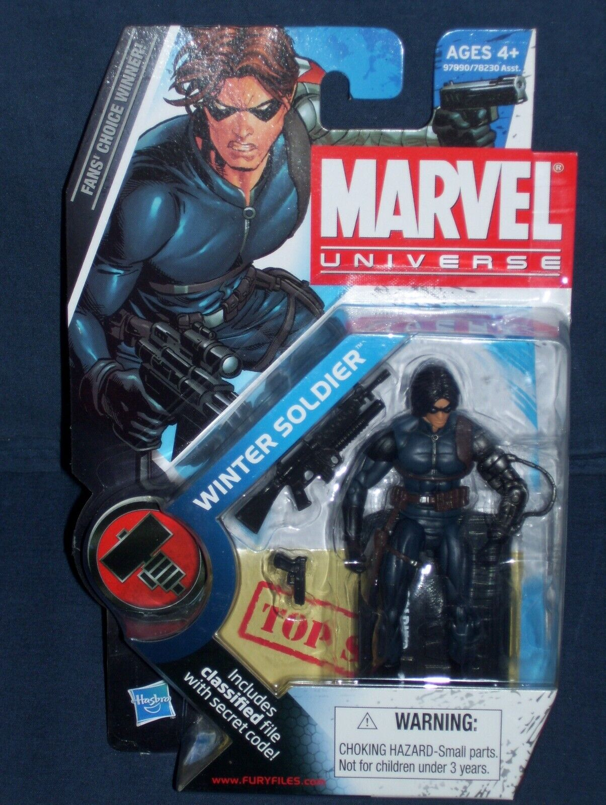 Marvel Universe Winter Soldier Long Hair 3 3 4 Action Figure  22 Series 2 NIB