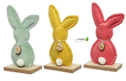 Easter Bunny 15cm Osterdeko Velvet Felt Fabric Easter Bunny Dekofigur Wooden Board Small