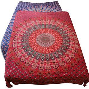 Tagesdecke-Bettueberwurf-100-Baumwolle-210x230cm-TuchTischdecke-Mandala-India