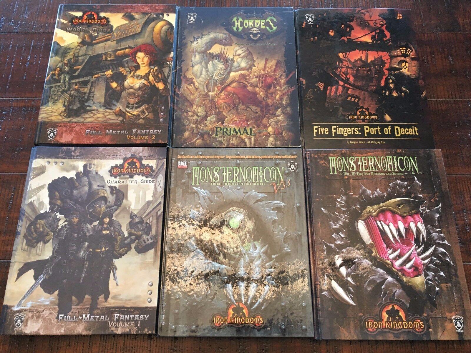 IRON KINGDOM Full Metal Metal Metal Fantasy RPG LOT Character Guide, World Guide & More OOP 32e0fc