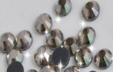 3mm Great Quality Hot Fix/Iron on Black Diamond Flatback Round HOTFIX SS10