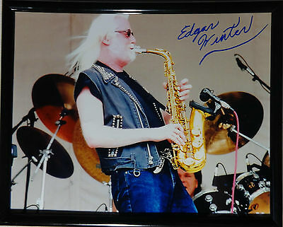 Signed Edgar Winter Autographed 8x10 Photo Framed W/pic Famous For Selected Materials Novel Designs Delightful Colors And Exquisite Workmanship