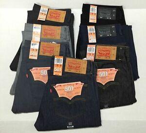 Levis-Uomo-501-Bottone-Strizzacervelli-Per-Adattarsi-Jeans-Dritto-Fit-ORIGINALE