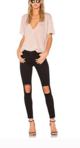 Skinny Cadre Crop Jeanne Denim Noir Noir Distressed Nouveau 31 Le De Taille Jeans BCxaYwdwqf