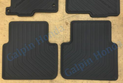 13-17 Genuine OEM Honda Accord 4dr Black All Season Floor Mat Set 08P13-T2A-110