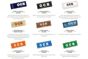 OCB Organic Hemp Premium green Rolled cigarette papers Original OCB Product