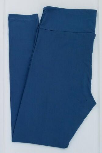 TC LuLaRoe Tall /& Curvy Leggings Beautiful Solid Aegean Blue NWT 04
