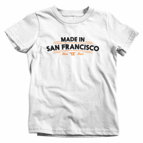 Made In San Francisco V2 Kids T-shirt Baby Toddler Youth Tee SF Cali Gift