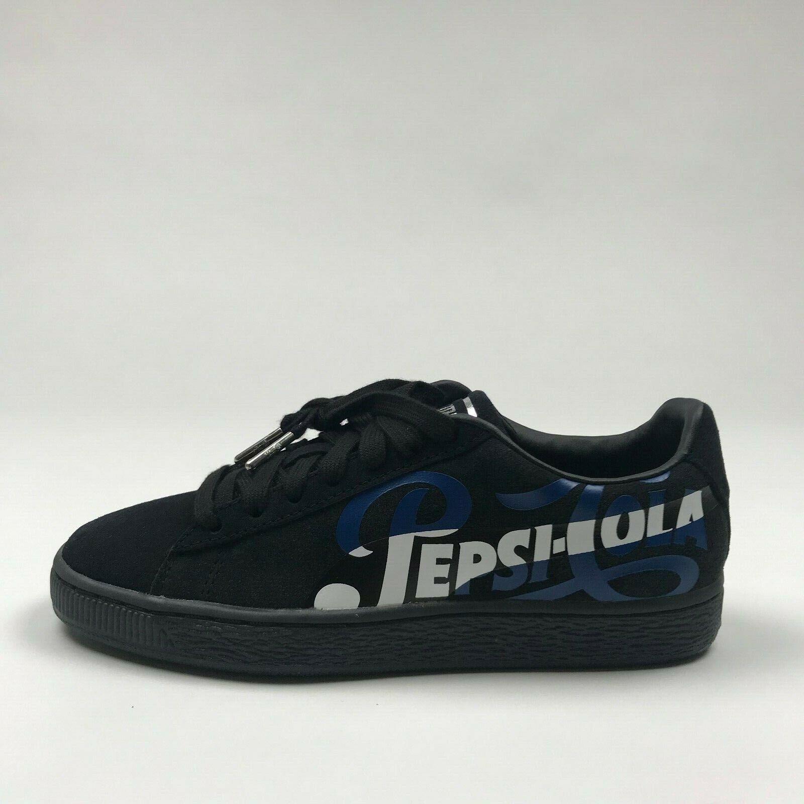 buy online 066a1 4b13b PEPSI x Puma Suede Classic BLACK BLACK BLACK 366332 02 MENS ...